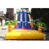 Quality Giant amazing jungle Inflatable Dry Slides for aqua water park / Playground wholesale