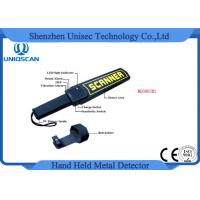 Quality High Sensitivity Hand Held Security Detector , Metal Detector Scanner For Airport wholesale