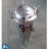 Quality Manual Upper Discharge Stainless Steel Bag Filter Food And Beverage Industries Use wholesale