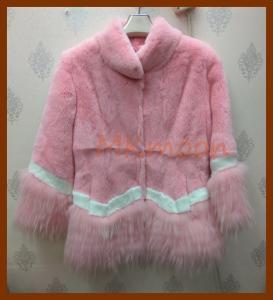 China Rabbit fur coat  -R129# on sale