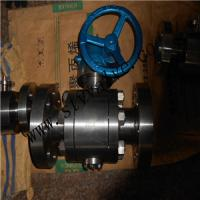 China Forge steel A105 RF trunnion mounted ball valve on sale
