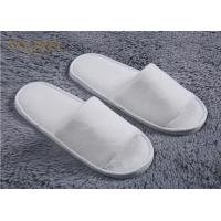 Quality Nature Cotton Custom Hotel Slippers For Men And Women Open Toe Terry Cloth Slippers wholesale