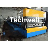 Quality Galvanized Steel Double Layer Forming Machine For Roof Wall Cladding With HRC50 - 60 Heat Treatment wholesale