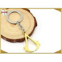 Quality Hangbag Accessories Metal Key Ring , Sliver Or Golden Plating Bulk Keychain Rings wholesale