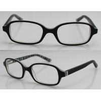 Quality Black Hand Made Acetate Optical Rectangle Glasses Frames For Youth Boy wholesale