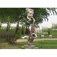 Quality Public Contemporary Saxophone Garden Statues Stainless Steel Art For Lawn Ornaments wholesale