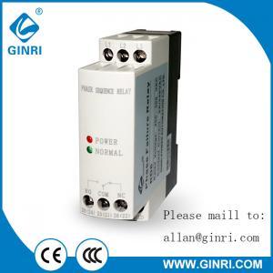 China JVRD6 Phase reversal phase failure protection relay 200V-500VAC 3 phase monitoring device with LED indicator lighting on sale