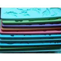 Quality Food Grade Silicone Fondant Mold / Silicone Kitchware With Lace , 19cm * 12cm * 0.65cm wholesale