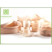 Quality Pine / Poplar Wooden Sushi Boat / Cups For Restaurant Different Shape Size wholesale