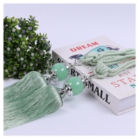 China Glass Crystal Round Head Rope Curtain Bandage For Living Room on sale