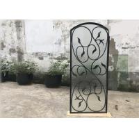 Quality Rust Prevention Wrought Iron Glass Door Inserts , Hollow Iron Glass Doors wholesale