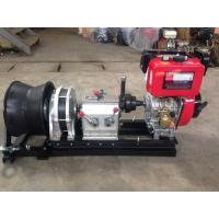 Quality 50KN fast speed Hiearns diesel engine winch cable pulling machine for pulling hoisting lifting wholesale