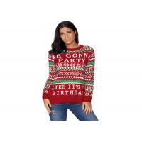 Quality Ugly Christmas Fine Knit Jumper Womens , Long Sleeve Pullover Sweater In Stock wholesale