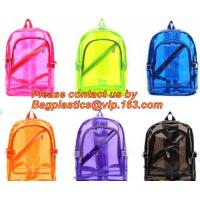 Quality Backpack Bag Casual Backpack For Women, outdoor clear pvc plastic backpack, school travel backpack with padded shoulder wholesale