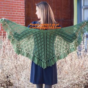 China Lady's Crochet Knitted Shawl,Hand Knitted Shawl ,Women Poncho, Free Knitting Crochet Woman on sale