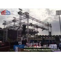 Quality Non Rust Aluminum Light Truss , Sqaure / Triangle Theatre Lighting Truss Kit wholesale