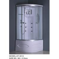 Quality Tempered glass material quadrant shower cubicles and trays 2 holes Handles wholesale