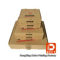 Quality Kraft Paper Plain Brown Pizza Packaging Boxes 6 Inch Square Shape Offset Printing wholesale