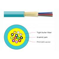 China Durable Tight Buffer Distribution Fiber Optic Cable Flame Retardant PVC Jacketed on sale