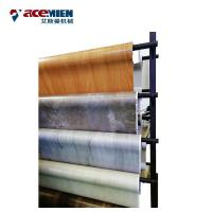 Quality Cutting SPC Flooring Machine PVC Vinyl Floor Tile Total Power 300 Kw Automatic wholesale