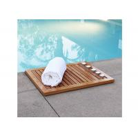 China Organic Bamboo Bathroom Suppliers Mat Shower Floor Mat Non Slip on sale