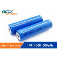 Quality shaver battery lithium ifr14500 3.2v 600mAh AA rechargeable battery wholesale