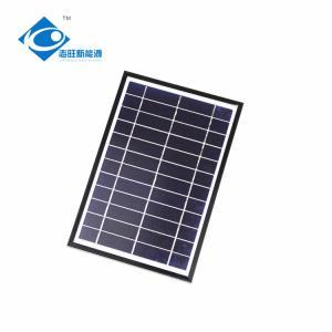 China 6V 6W Aluminum frame portable solar panel for mini solar charger ZW-6W-6V home power solar system on sale