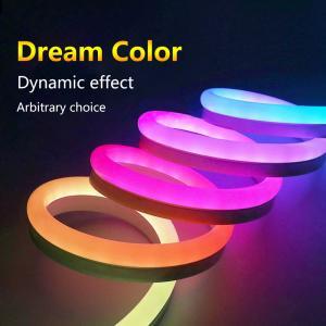 China Dream Color LED Neon Flex Strip , Programmable LED Neon Lights SPI Signal Control on sale