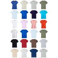 Buy cheap 110000PCS men's solid color summer Cotton Round collar  slim design Tees stock  size XS to XxxL 3 designs 18 colors from wholesalers