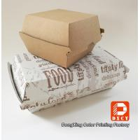 China Grease Proof Recycled Fast Food Packaging Foldable With Offset Printing on sale