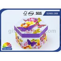 China Recycled Printed Paper Gift Box with Lid / Hexagon Cardboard Paper Eco Friendly Packaging Boxes on sale