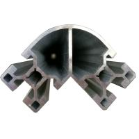 Corner Aluminium Extruded Profiles For Construction Frame Industrial for sale