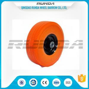 China Flat Free PU Foam Wheel Carbon Steel Bearing 20mm Inner Hole Oil Dirt Resistant on sale