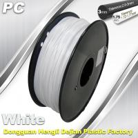 Quality 1.75 / 3.0 mm  PC Filament  White for RepRap , Cubify 3D Printer Filament wholesale