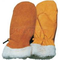 Quality double palm Cow Grain Mitten Winter Leather Gloves / Glove 12310 wholesale