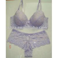 Quality Embroidered Convertible Fashionable Lace Breathable Adults Matching Bra And Underwear Sets wholesale