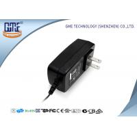 Quality Black US Style AC To DC Power Adapter , 3D Printer 12 Volt AC DC Adapter wholesale