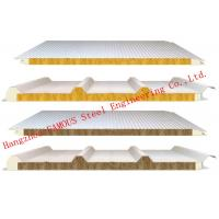 Quality 950mm Width Fire Resistant Mineral Wool Sandwich Wall Panels Durability and Long Life Time wholesale