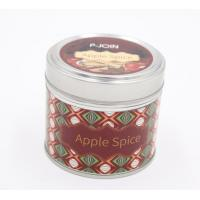 Quality Hot sale paraffin wax luxury scented travel tin candle with color label finish wholesale