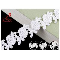 Quality Embroidered Flower Guipure White Cotton Lace Ribbon For Fashion Clothes wholesale