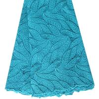 Quality Latest guipure lace with stones of F50265 teal wholesale