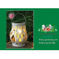 Quality Indoor Mini Rattan Basket Solar Garden Lights Cross Weaving For Decorating Garden wholesale