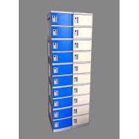 Quality 10 Tier Beige / Yellow Charging Station Lockers 2 Layer Cell Phone Charging Lockers wholesale
