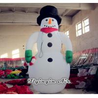 Quality Customized Inflatable snowman with Black Hat for Christmas Decoration wholesale