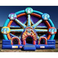 Cheap Ferris Wheel Inflatable Combo Bounce House / Commercial Jumping Castle for sale