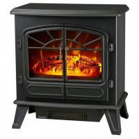 China antique electric stove ND-181M double door electric fireplace heater log burning flame effect on sale