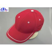 Quality Adult 6 Panles Sports Baseball Caps with Contract color Eyelet , Back Snapback wholesale