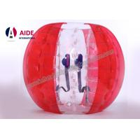 Quality 1.2m dia Red Inflatable Bubble Soccer Ball Inflatable Ball Game 4 Foot Football Suit Knock Ball wholesale