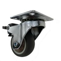 Quality 38mm 50mm Light Duty Casters With Brake Small Swivel Wheels For Furniture wholesale
