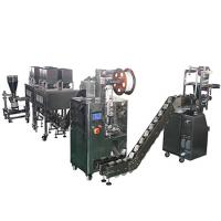 Pyramid Tea Packaging Machine With Eight Electronic Scales , Automated Packaging Equipment